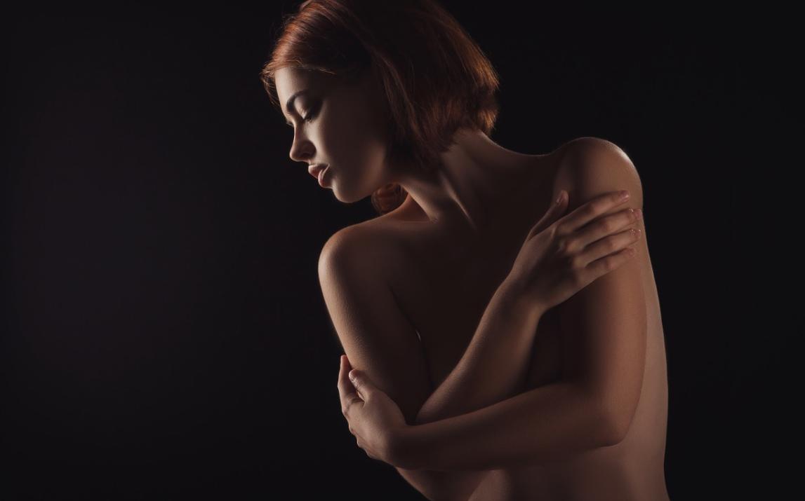 žena s kůží