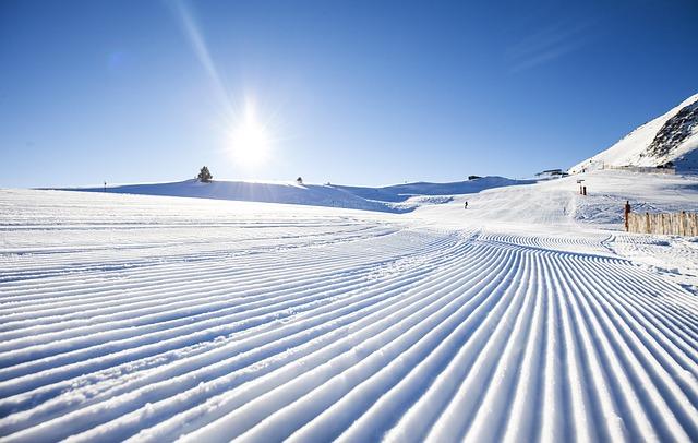 slunce na sněhu